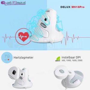 32127 M618Pro Ergonomische gaming muis 2000dpi + hartslagmeter + polssteun 0